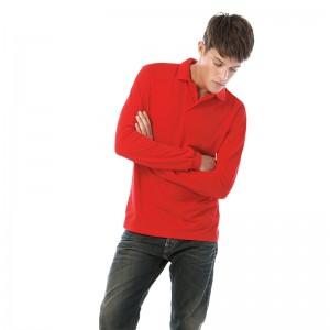 B&C Brand Safran long sleeve Performance 180 GSM Polo Shirt