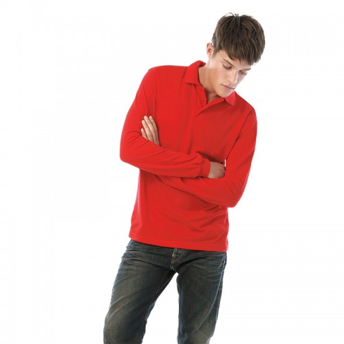 B&C Brand Safran long sleeve Performance 180 GSM Polo Shirt