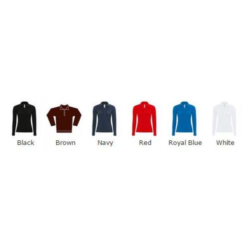 B&C top Safran pure long sleeve /women 180 GSM Polo Shirt