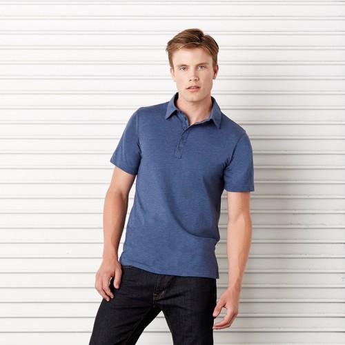Bella + Canvas top Jersey 5 button polo Performance  GSM Polo Shirt