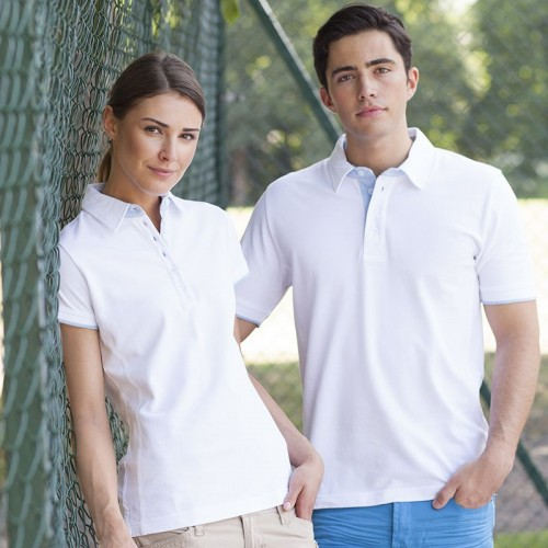 Front Row & Co top Contrast pique elegant 200 GSM Polo Shirt