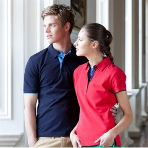 Front Row & Co top Women's contrast pique elegant Polo Shirt