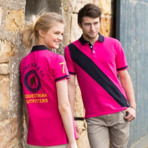 Front Row & Co top Women's diagonal stripe slip fit 200 GSM Polo Shirt