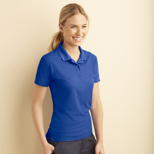 AquaFX™ for wicking Gildan Ladies fit 190 GSM Polo Shirt