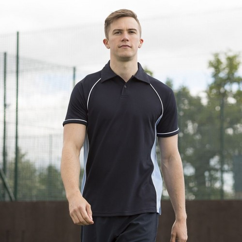 Finden Hales contrast Piped performance 200 GSM Polo Shirt
