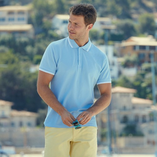 Fruit of the Loom top Tipped polo club 180 GSM Polo Shirt
