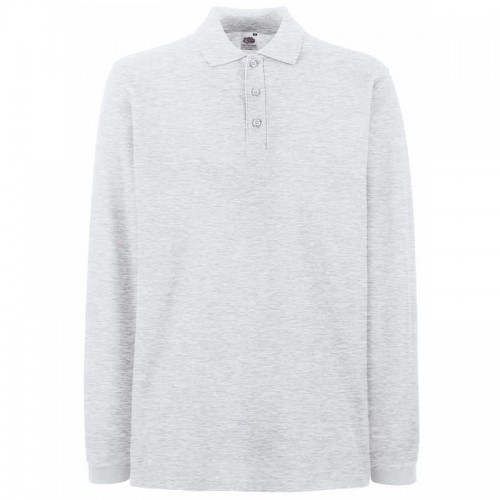 Fruit of the Loom top Premium long sleeve polo 180 GSM Polo Shirt