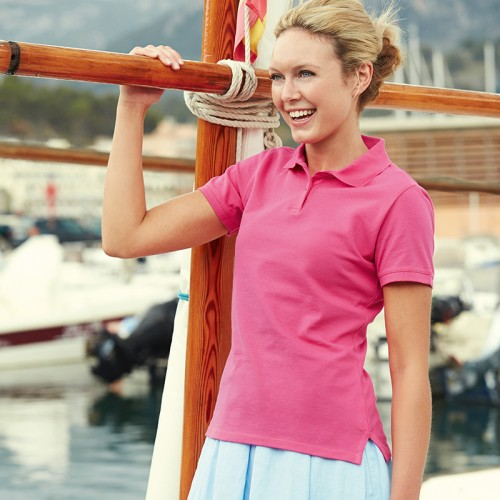 Fruit of the Loom top Lady-fit polo ctton 220 GSM Polo Shirt