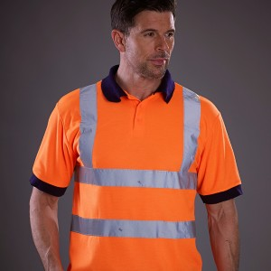 YOKO top Hi vis short sleeve polo (HVJ210) Performance 210 GSM Polo Shirt