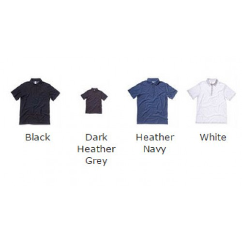 Bella + Canvas top Jersey 5 button polo Performance  GSM Polo Shirt