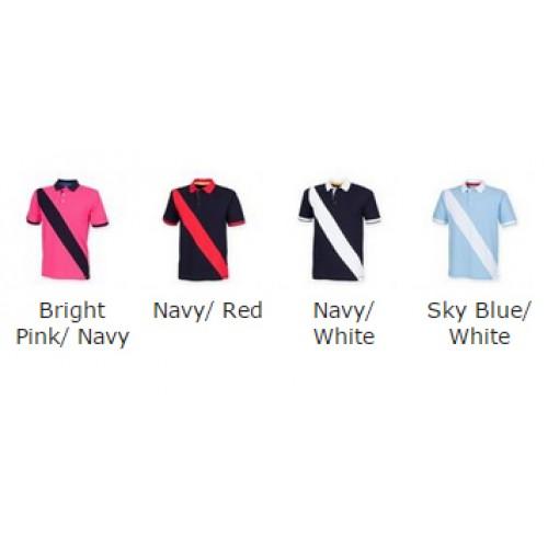 Front Row & Co top Diagonal stripe house polo 200 GSM Polo Shirt