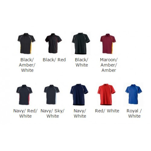 Finden Hales top Kids piped Coolplus® 100% Polyester Polo Shirt