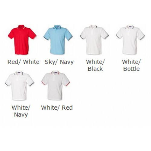 HENBURY kids tipped Cotton/Polyester polo Polo Shirt