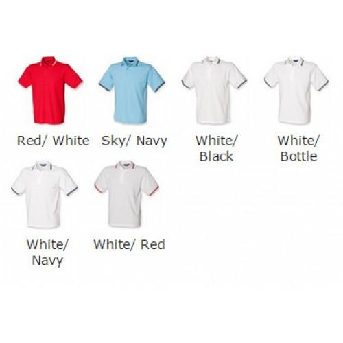 HENBURY kids tipped Cotton/Polyester polo Polo Shirt