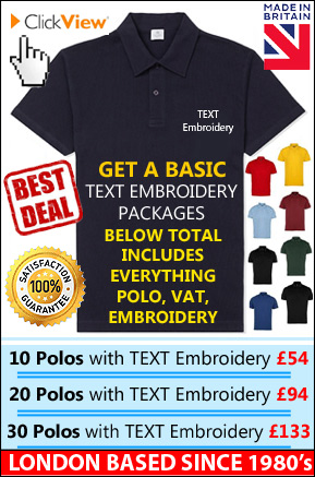 Looking For Polo Shirt Embroidery We Use Barudan Machines